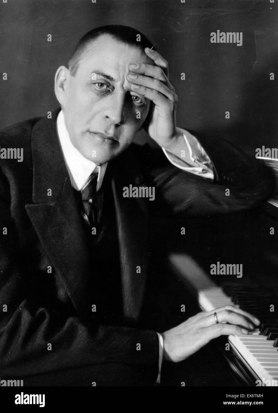 Sergei Vasilyevich Rachmaninoff (1873 – 1943). Russian composer, pianist, and conductor. - Stock Image