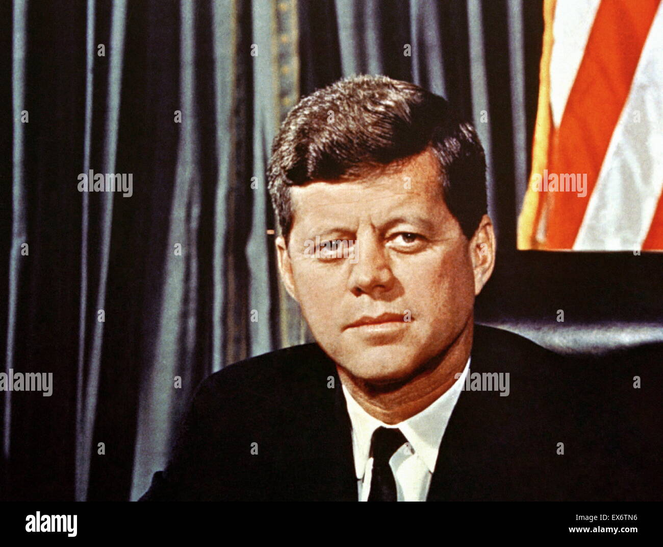 John F Kennedy President of the USA 1961-1963 - Stock Image