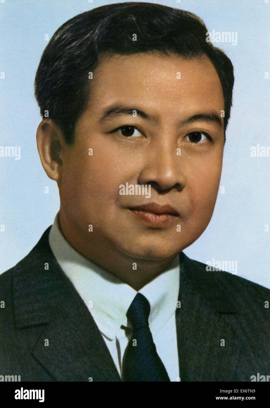 Norodom Sihanouk (1922 – 15 October 2012) King of Cambodia from 1941 to 1955 and again from 1993 to 2005. He was Stock Photo