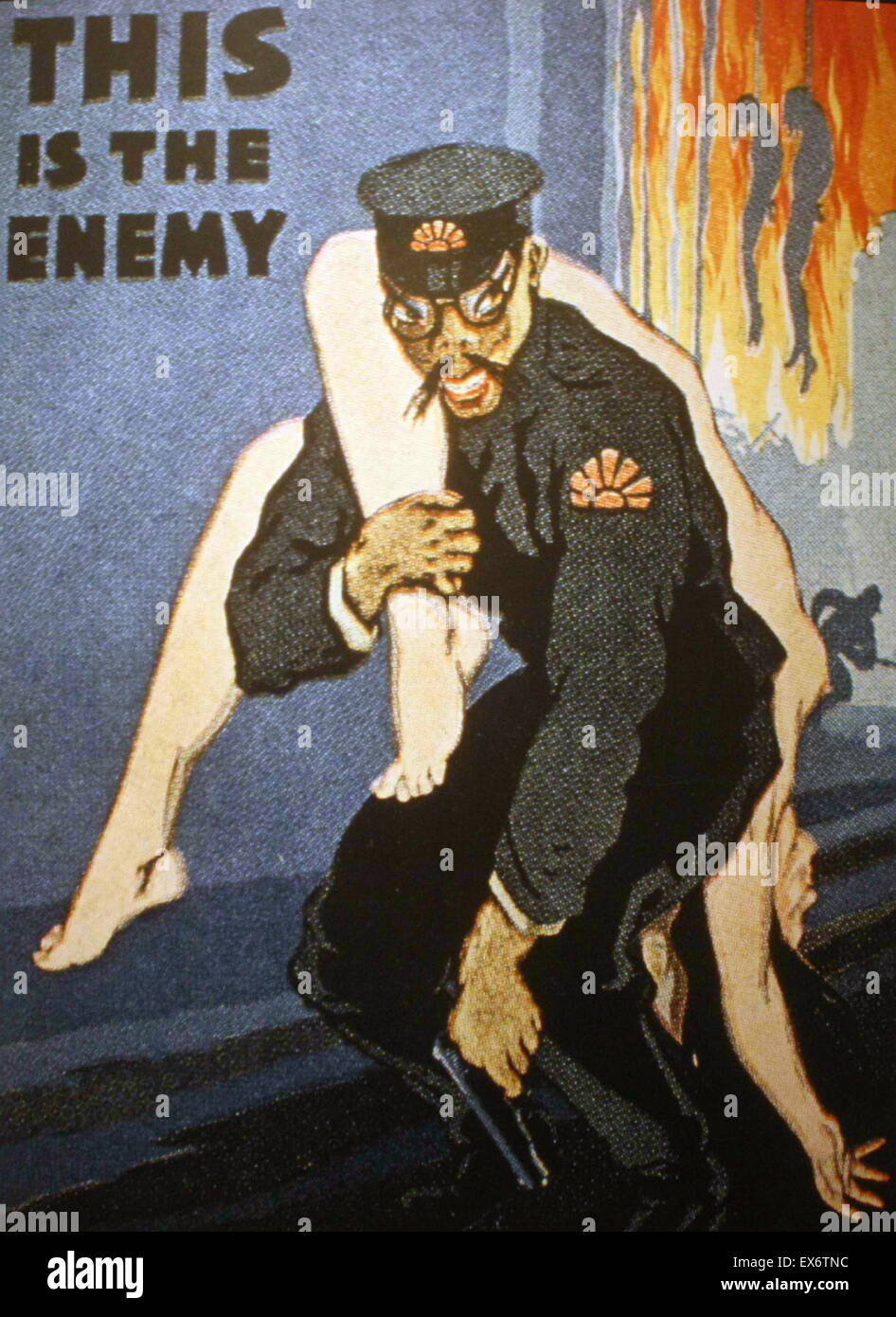 Anti-Japanese propaganda poster 'This is the enemy' 1942 - Stock Image