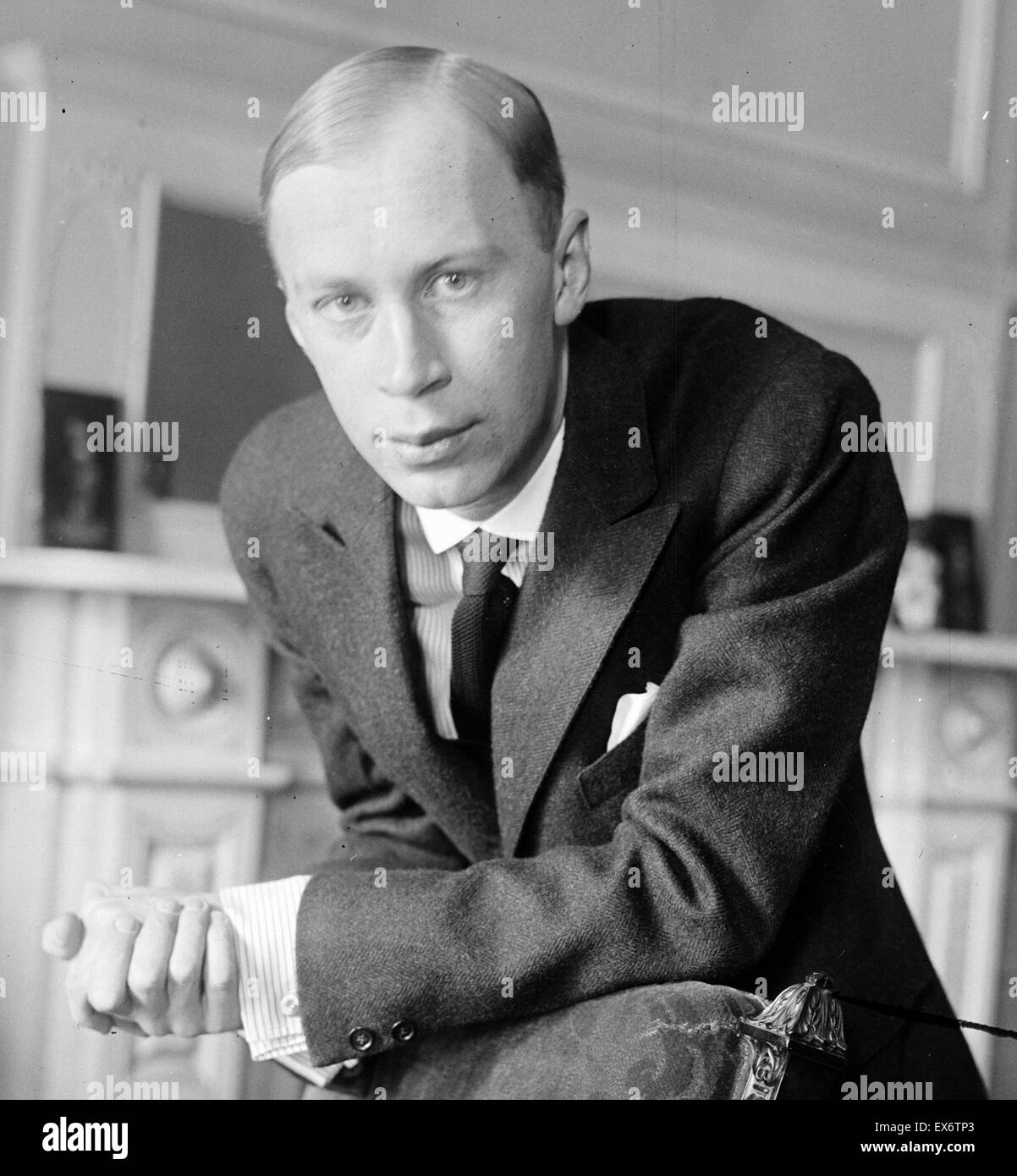 Sergei Vasilyevich Rachmaninoff (1873 – 28 March 1943). Russian composer, pianist, and conductor - Stock Image