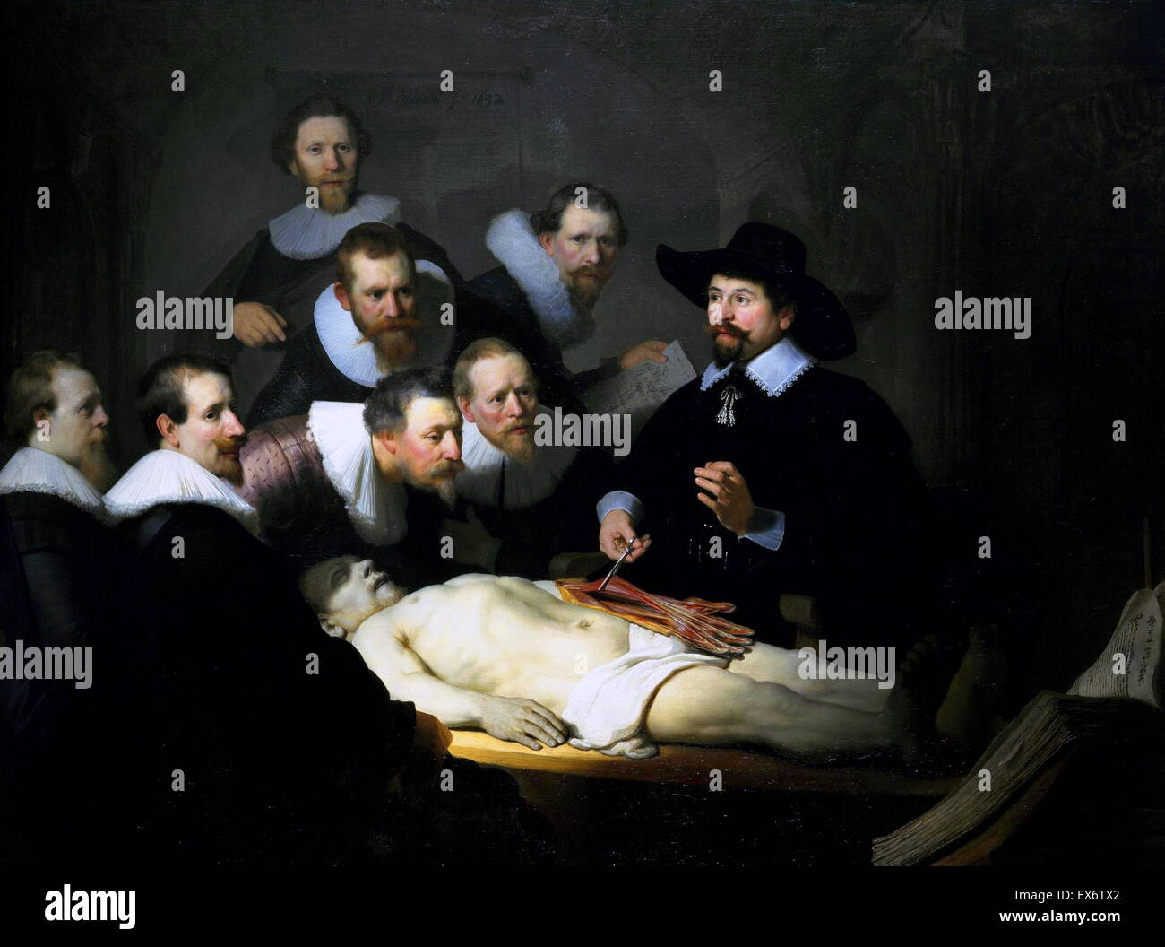 The Anatomy Lesson of Dr Nicolaes Tulp 1632. by Rembrandt Stock ...