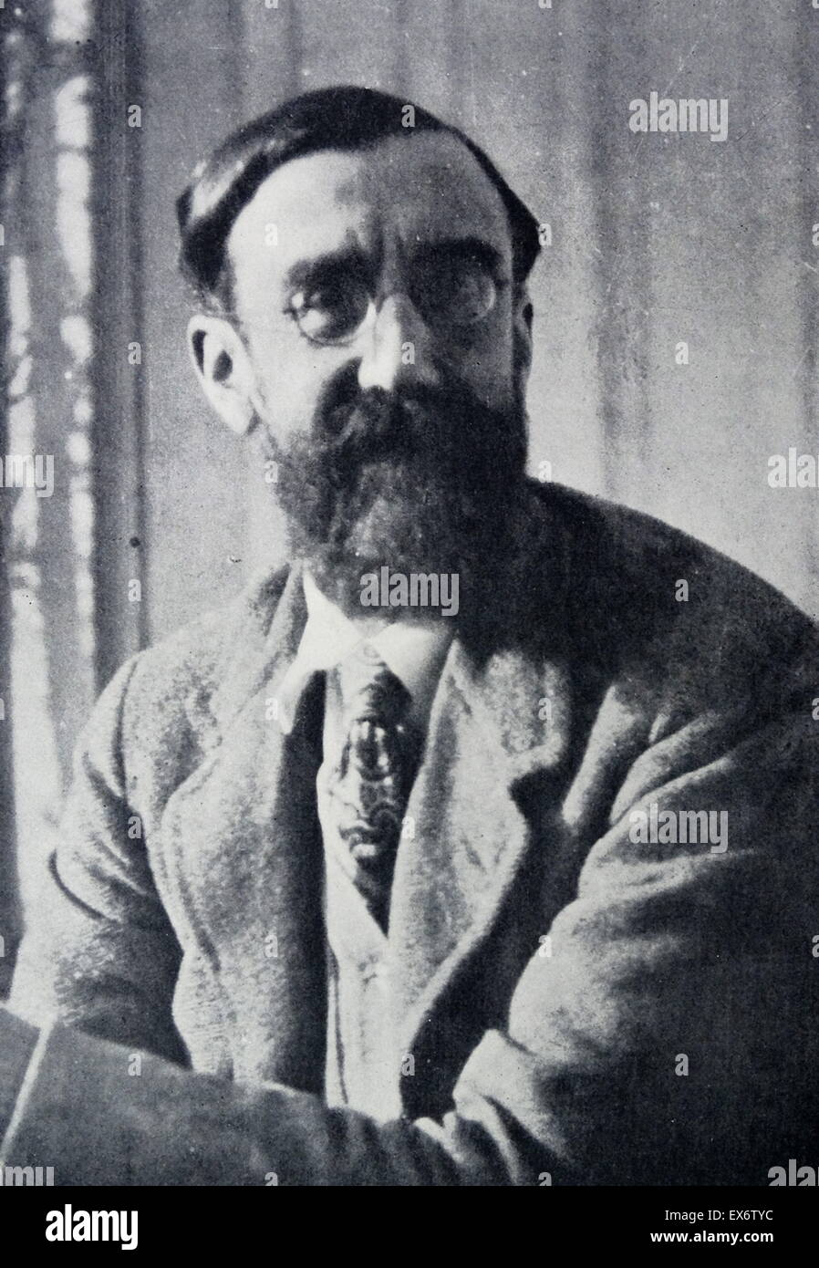 Giles Lytton Strachey 1880-1932. British writer and critic. founding member of the Bloomsbury Group and author of - Stock Image