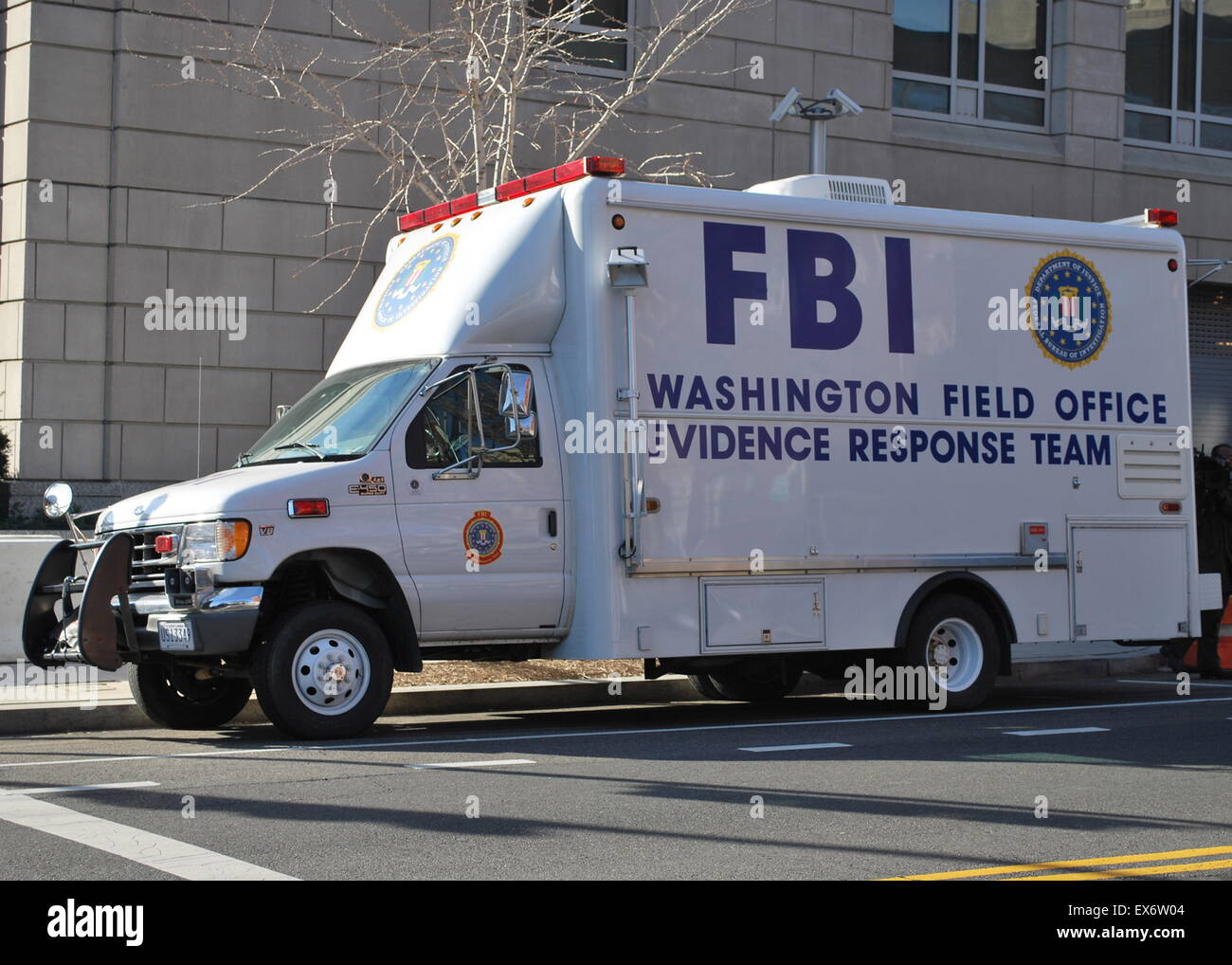 FBI evidence response team vehicle - Stock Image