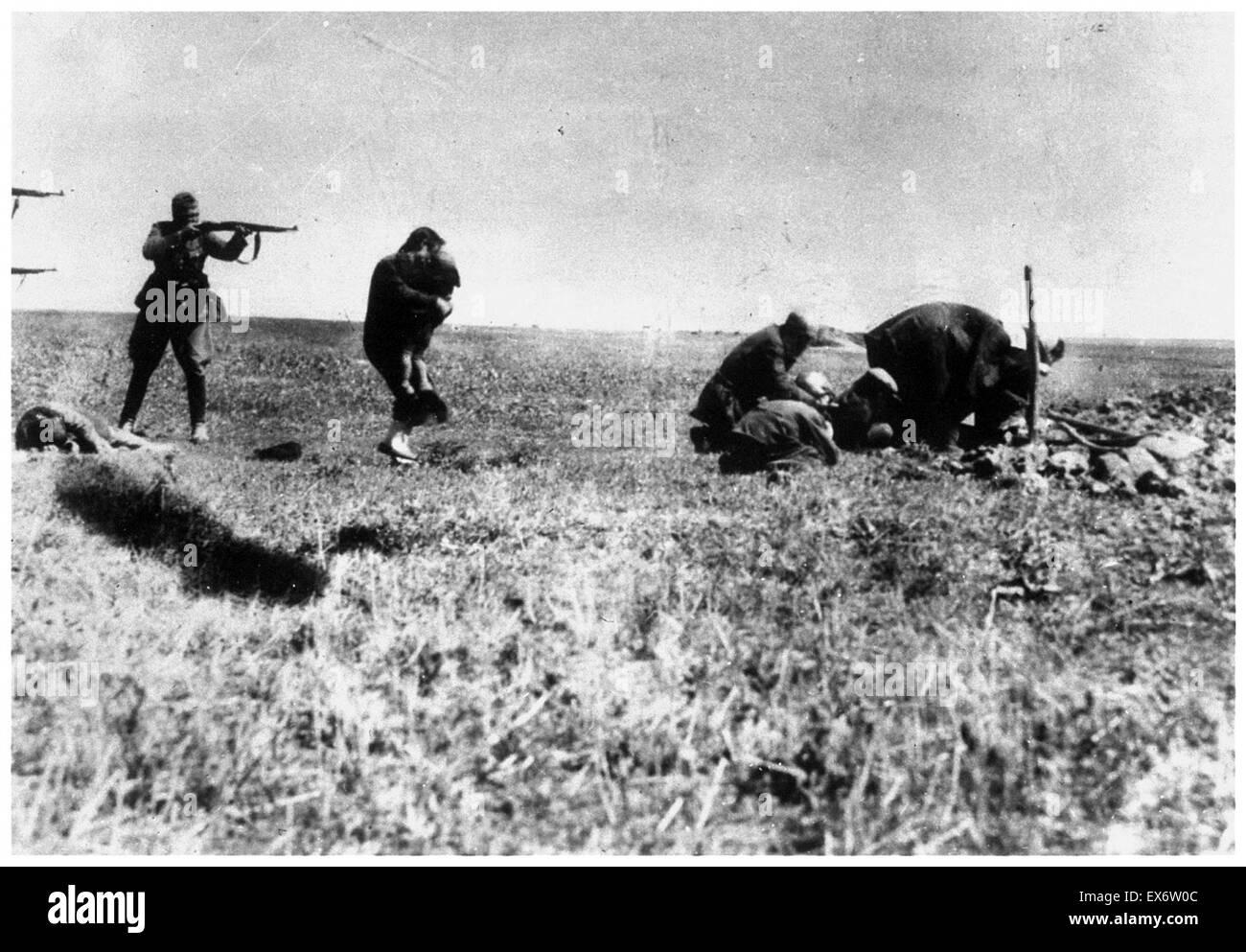 Einzatz Gruppen execute Jews in Kiev in the Ukraine 1942 - Stock Image