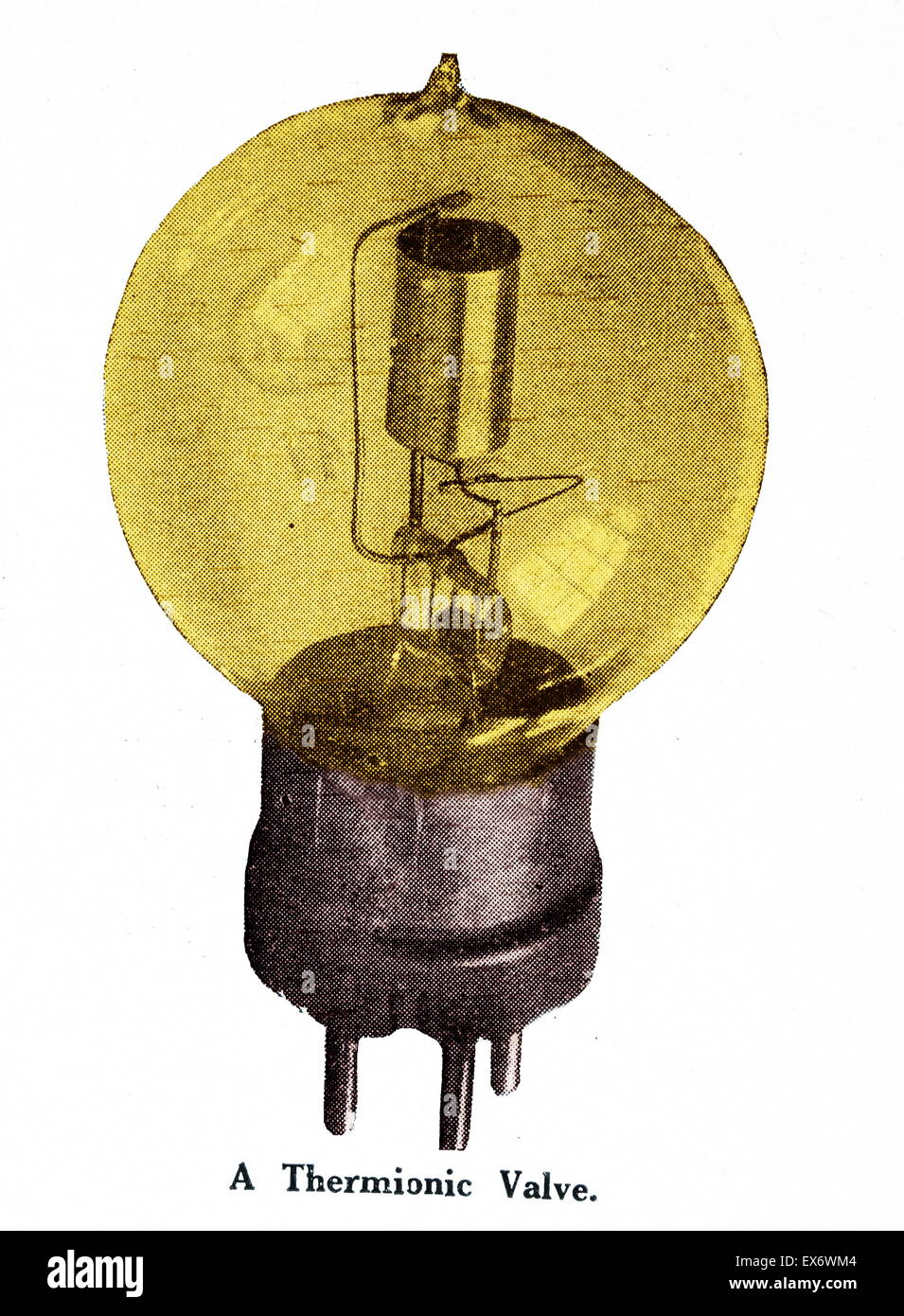 thermionic tube or thermionic valve Invented in about 1910, were a basic component for electronics throughout the - Stock Image