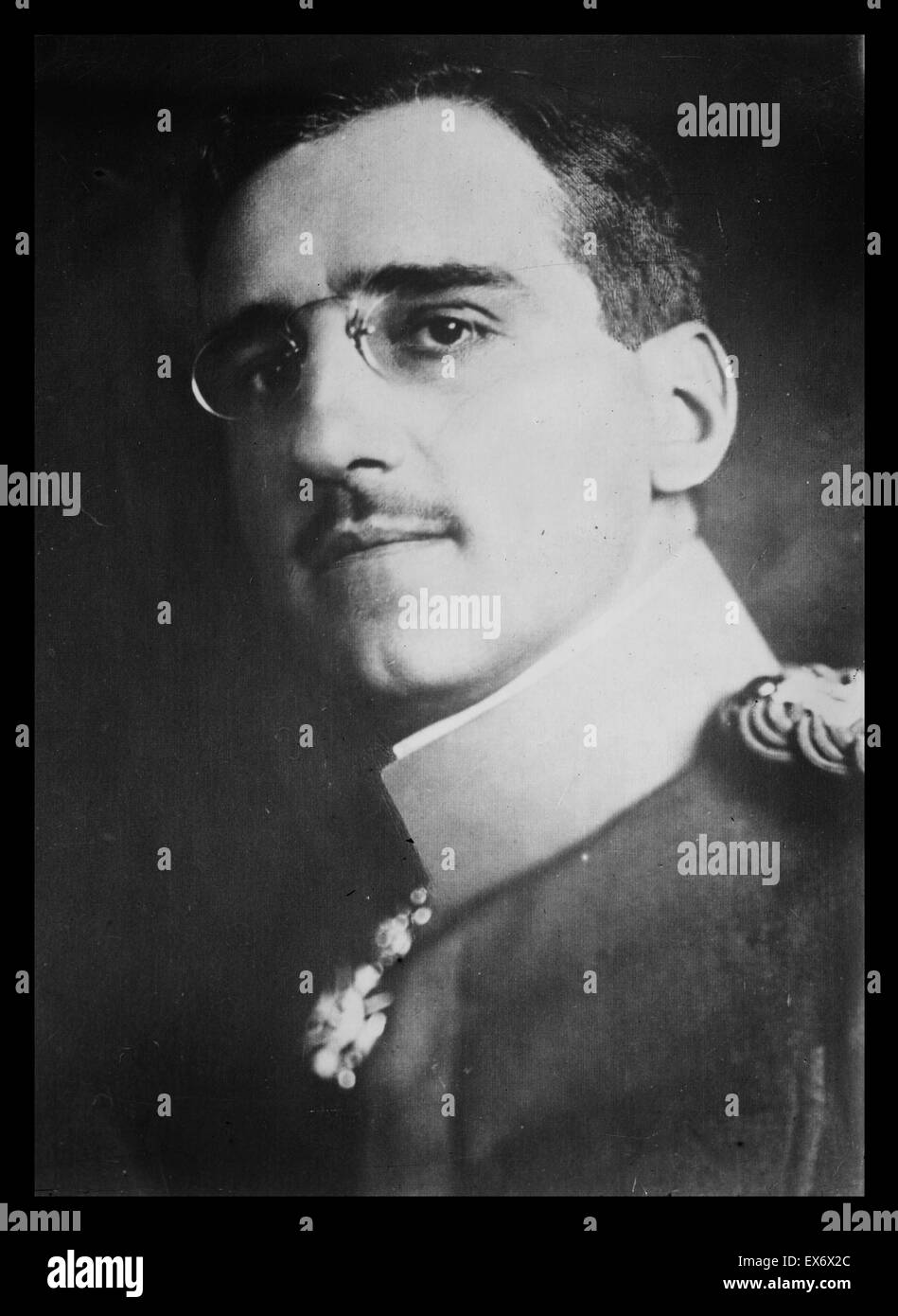 Alexander I 888 – 9 October 1934) served as a prince regent of the Kingdom of Serbia from 1914 and later became - Stock Image