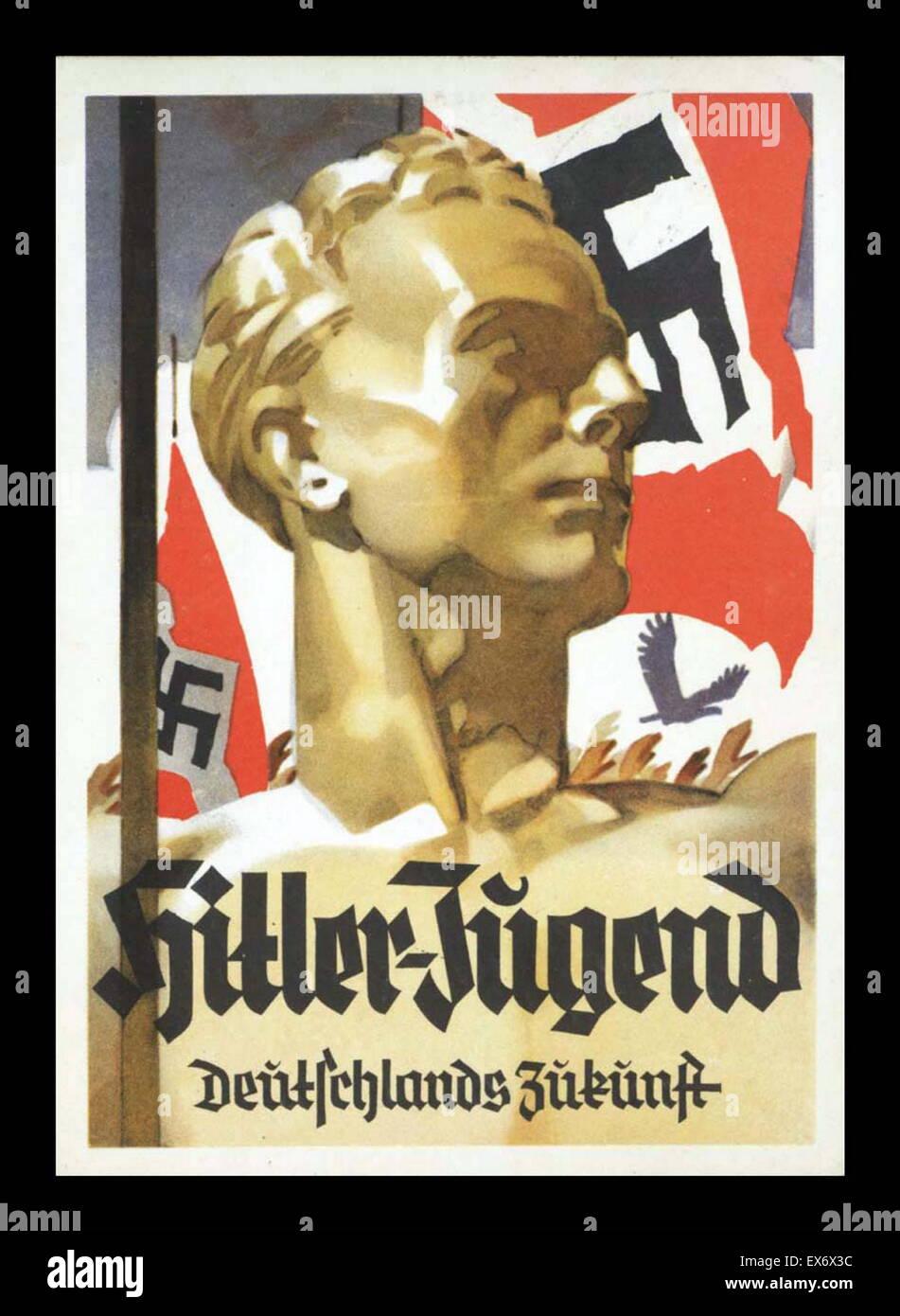 Hitler Youth Nazi propaganda recruitment poster 1942 - Stock Image