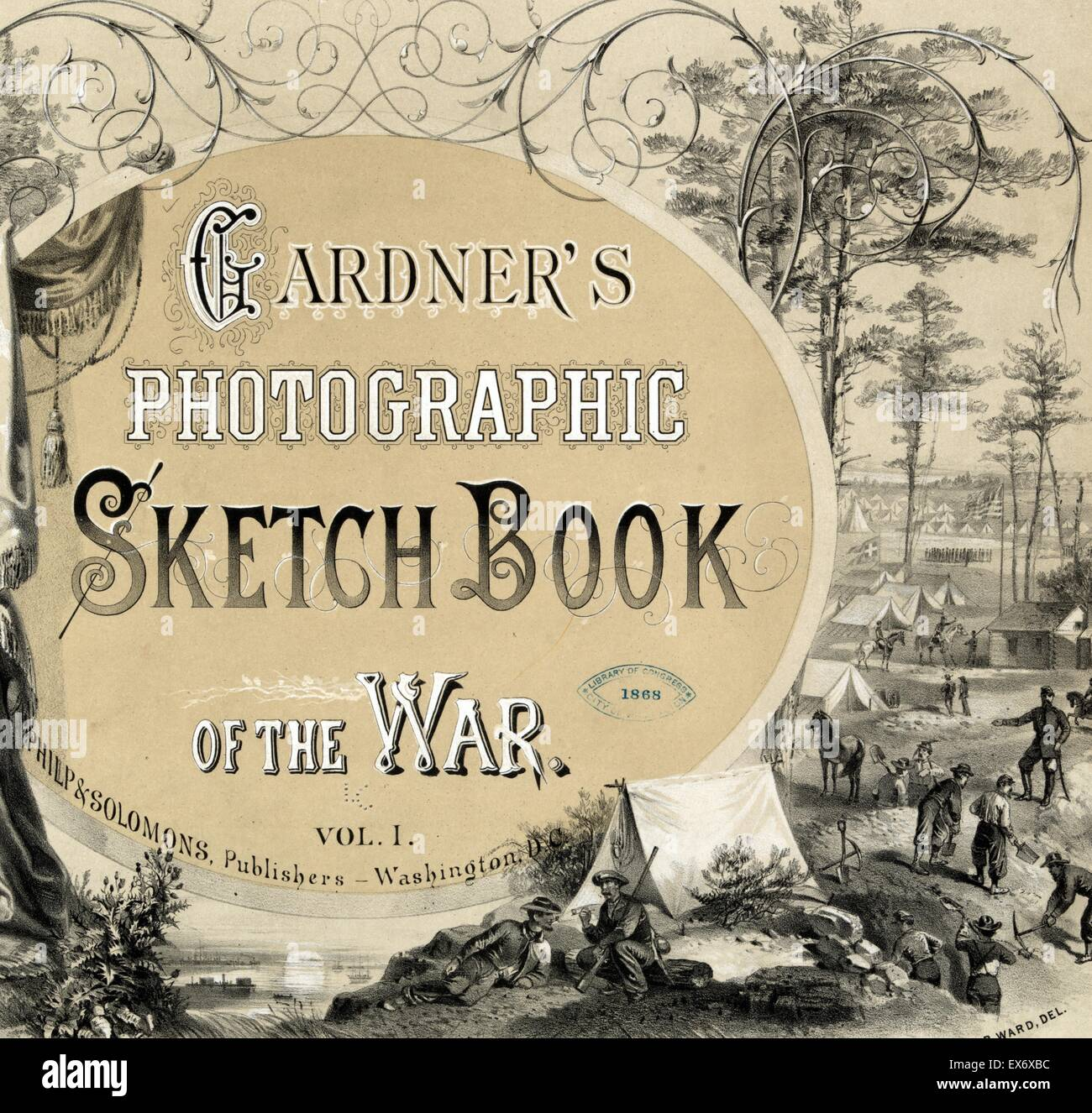 Title page of a photo album of the American Civil War 1865 - Stock Image