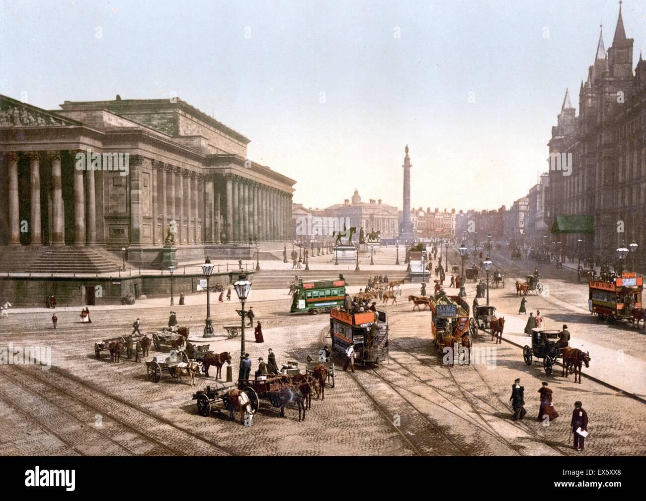 St. George's Hall, Liverpool, England 1890 - Stock Image