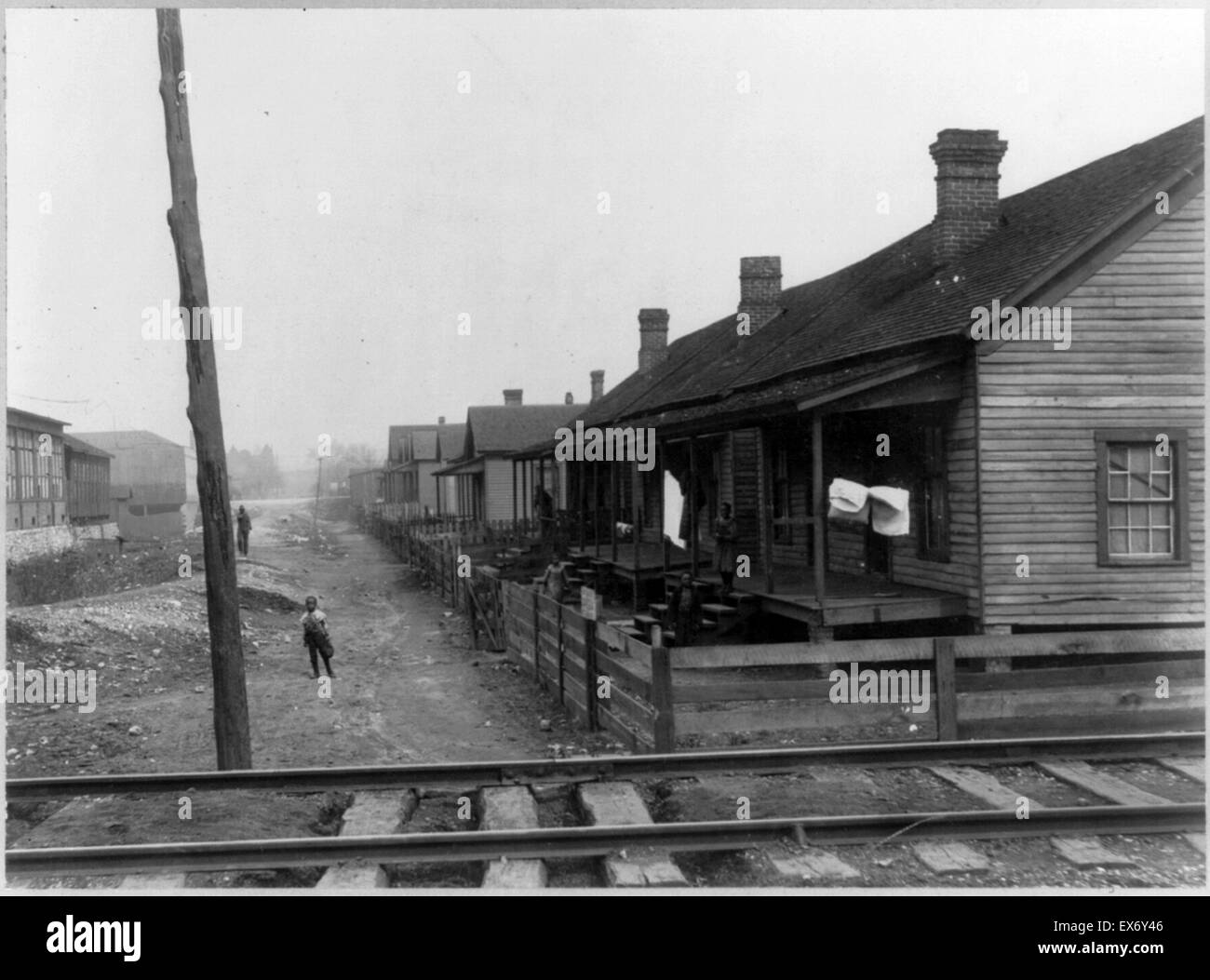 Negro homes- homes of poorer classes, Chattanooga, Tenn. Reportedly displayed as part of the American Negro exhibit - Stock Image