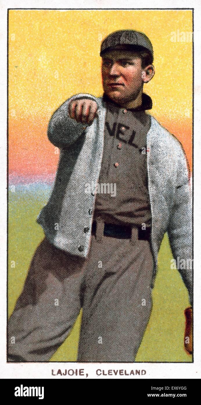 Nap Lajoie Cleveland Naps Baseball Card Portrait Sponsor