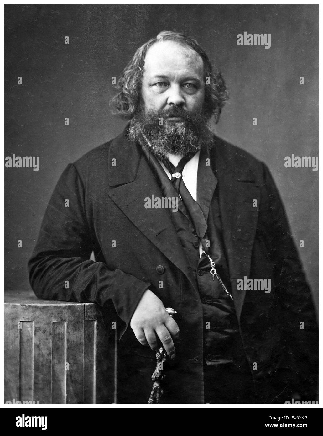 Mikhail Alexandrovich Bakunin (1814 – 1876) Russian revolutionary anarchist, and founder of collectivist anarchism. - Stock Image