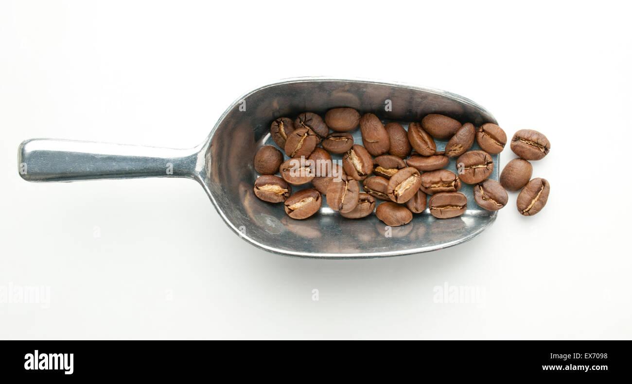Burundi, roasted washed bourbon coffee beans - Stock Image