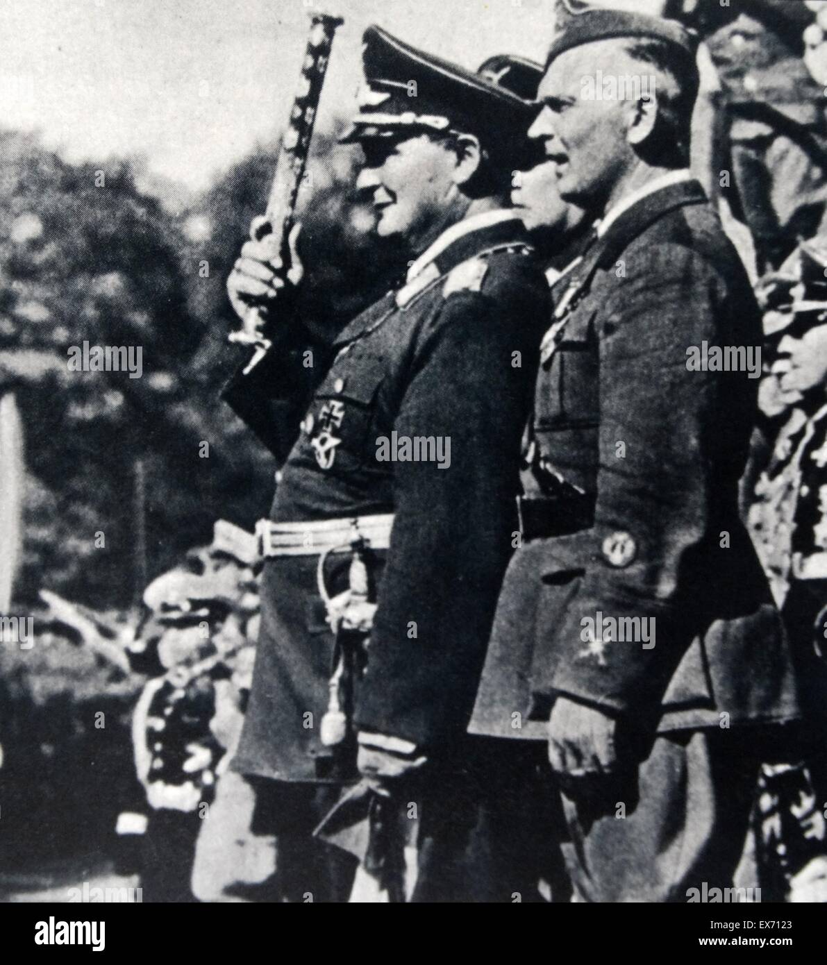 Field Marshal Hermann Goering and the Head of the Condor Legion General von Richthofen in Hamburg 1936. The condor - Stock Image