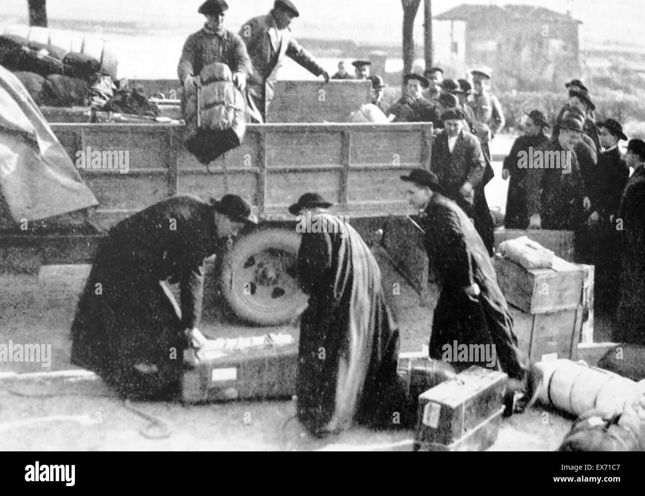 Spanish Civil War, International brigade members - Stock Image
