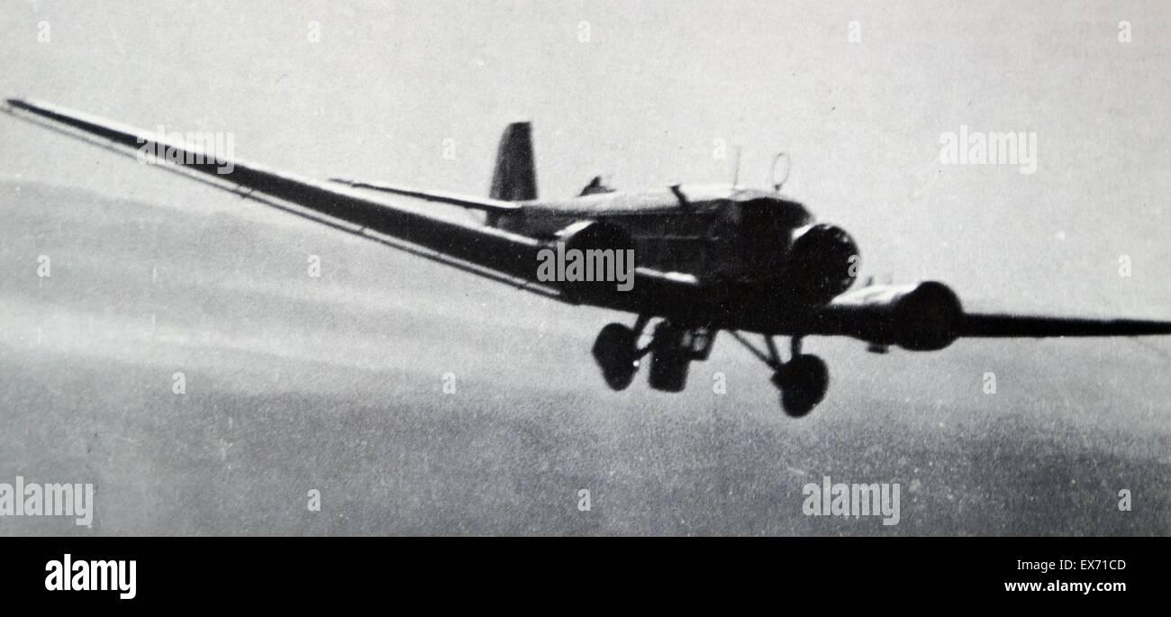 German Condor legion, Junker 52 aircraft during the Spanish Civil War - Stock Image