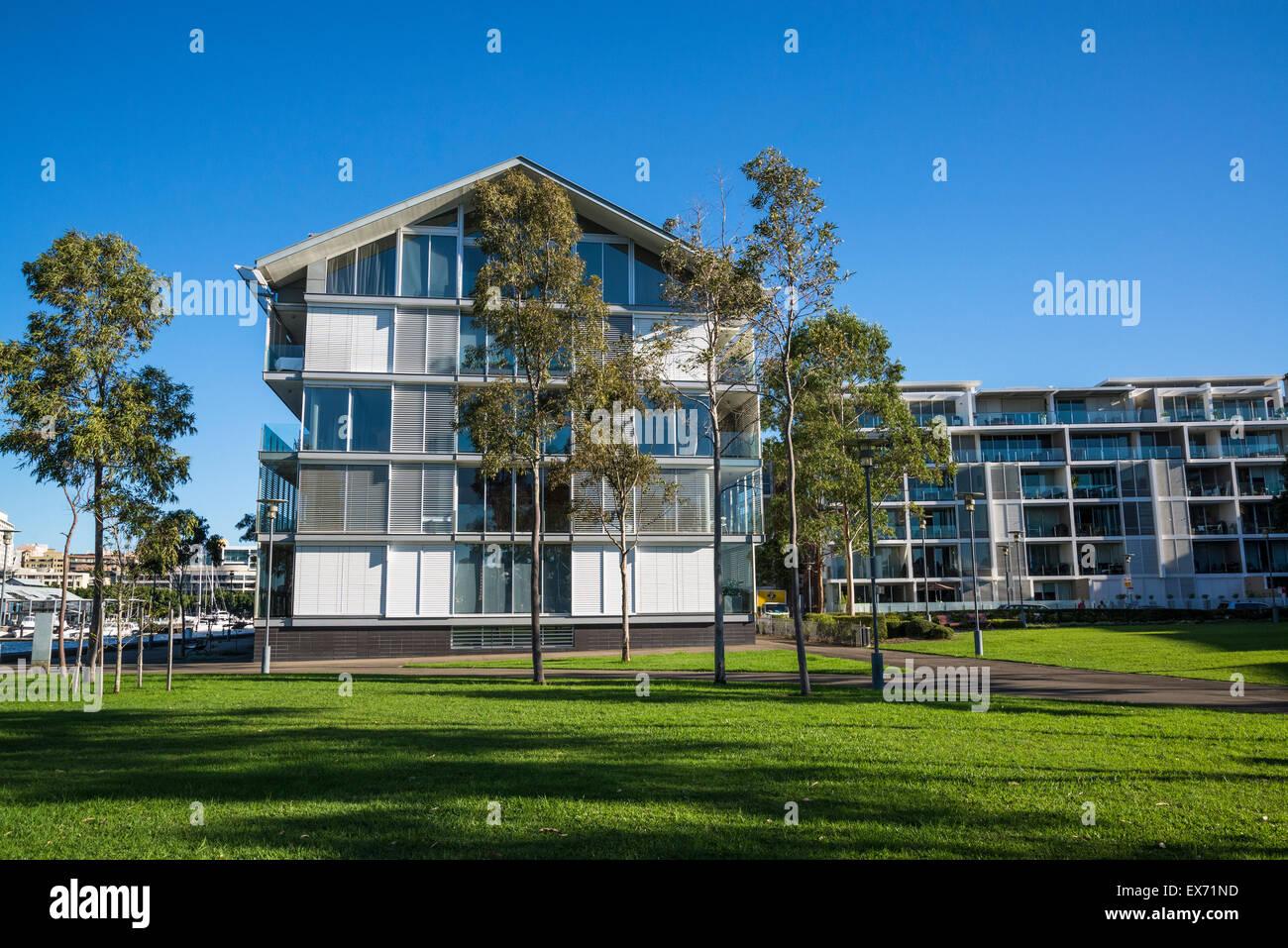 Darling Island luxury housing development, Sydney, Australia - Stock Image