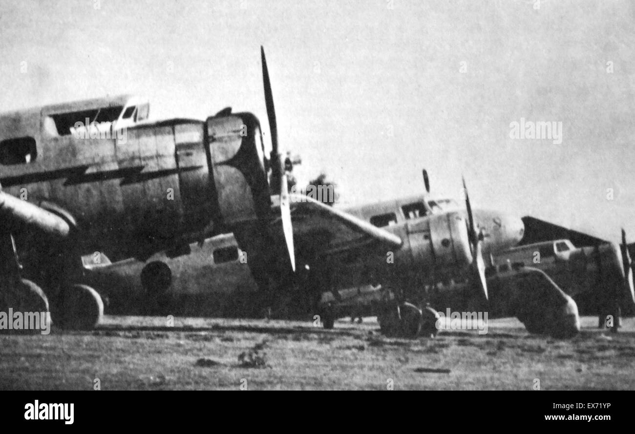 Nationalist aircraft during the Spanish Civil War - Stock Image