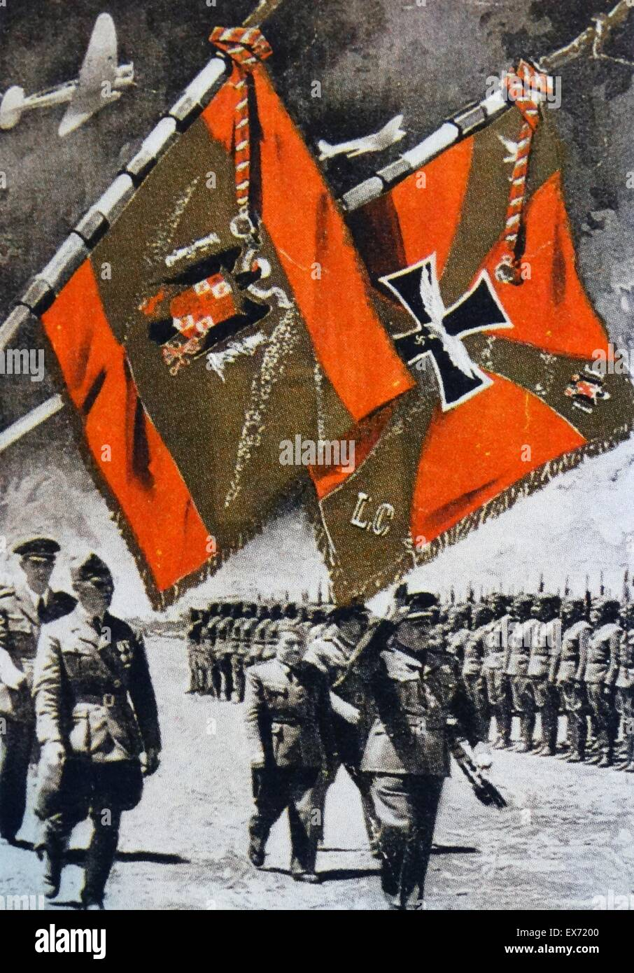the German Condor Legion parade in Spain. The Condor Legion was sent by the Nazi German Air Force, in 1937 to support - Stock Image