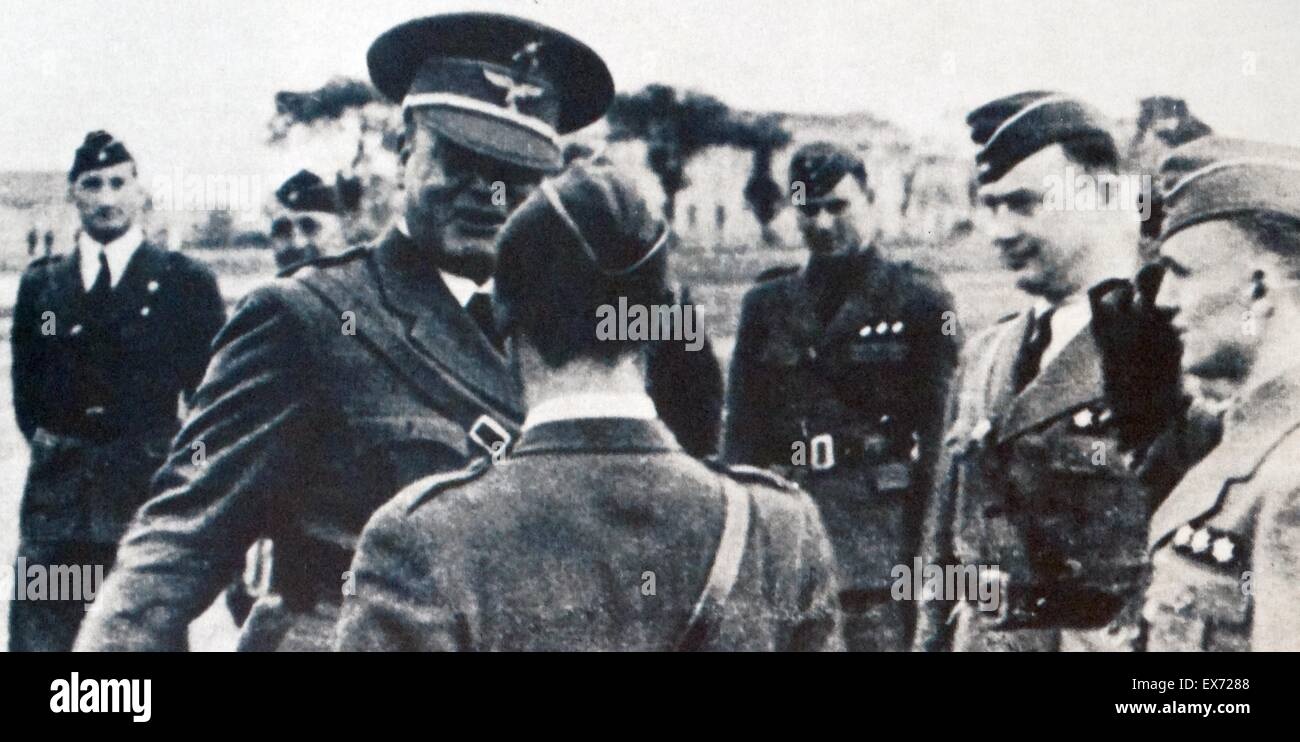 Hugo Sperrle (1885 – 1953) German field marshal of the Luftwaffe during World War II. He was the first commander - Stock Image