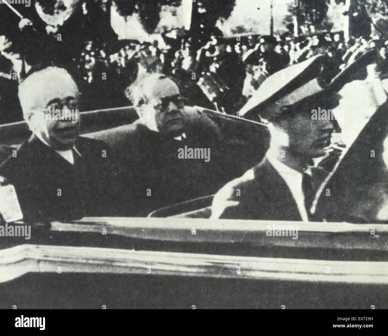 Republican political leaders, Manuel Azana and Juan Negrín during the Spanish Civil War - Stock Image