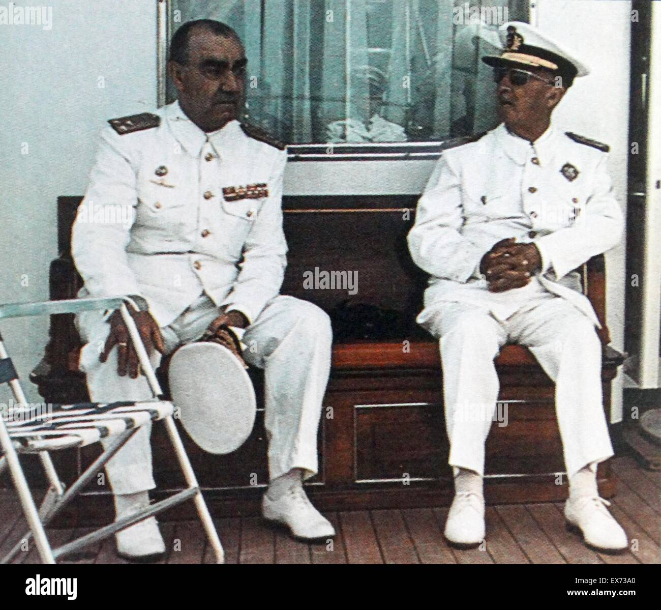 Left: Admiral Luis Carrero Blanco, (1904 – 1973) and General Francisco Franco (1892-1975). They were respectively, - Stock Image