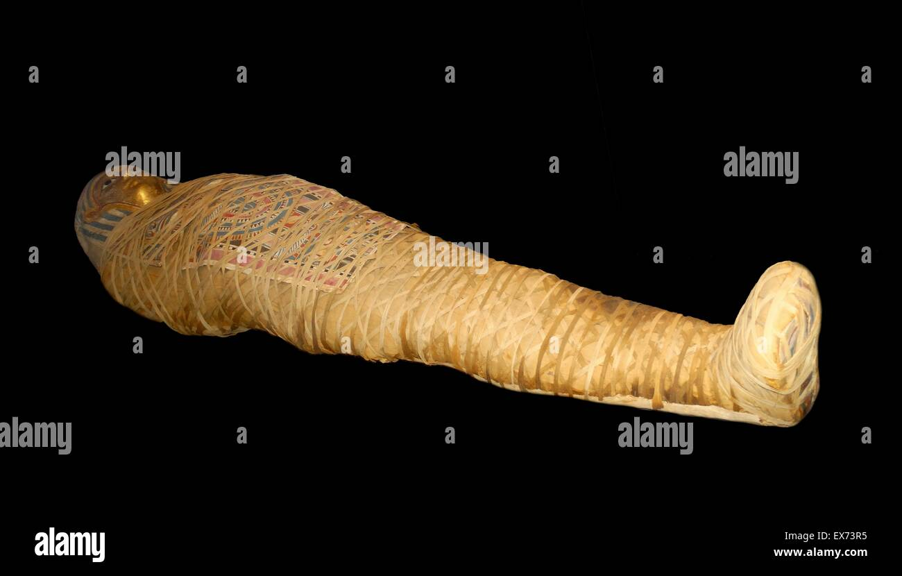mummy of Djehor, Ptolemaic period, Egypt, 250 BC - Stock Image
