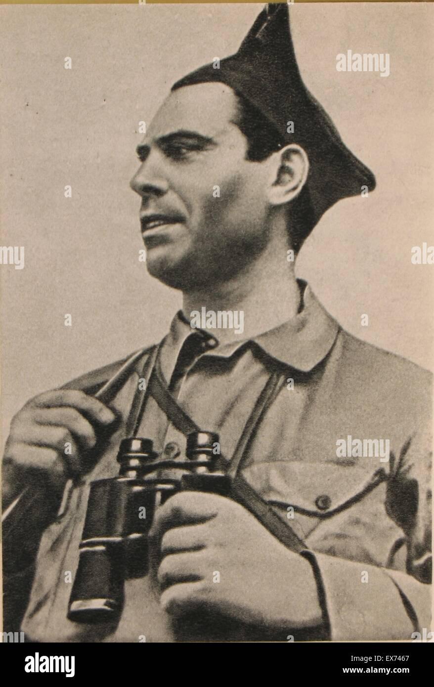 José Buenaventura Durruti (1896 – 20 November 1936) anarcho-syndicalist militant involved with the CNT, FAI - Stock Image