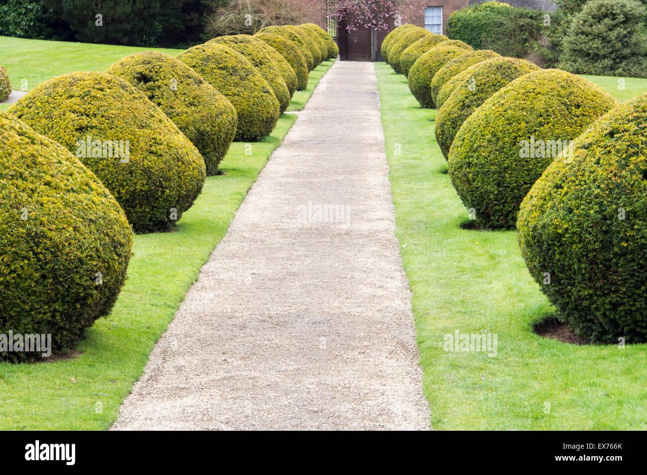 Part of the garden at Berrington Hall near Leominster, Herefordshire, UK. Stock Photo