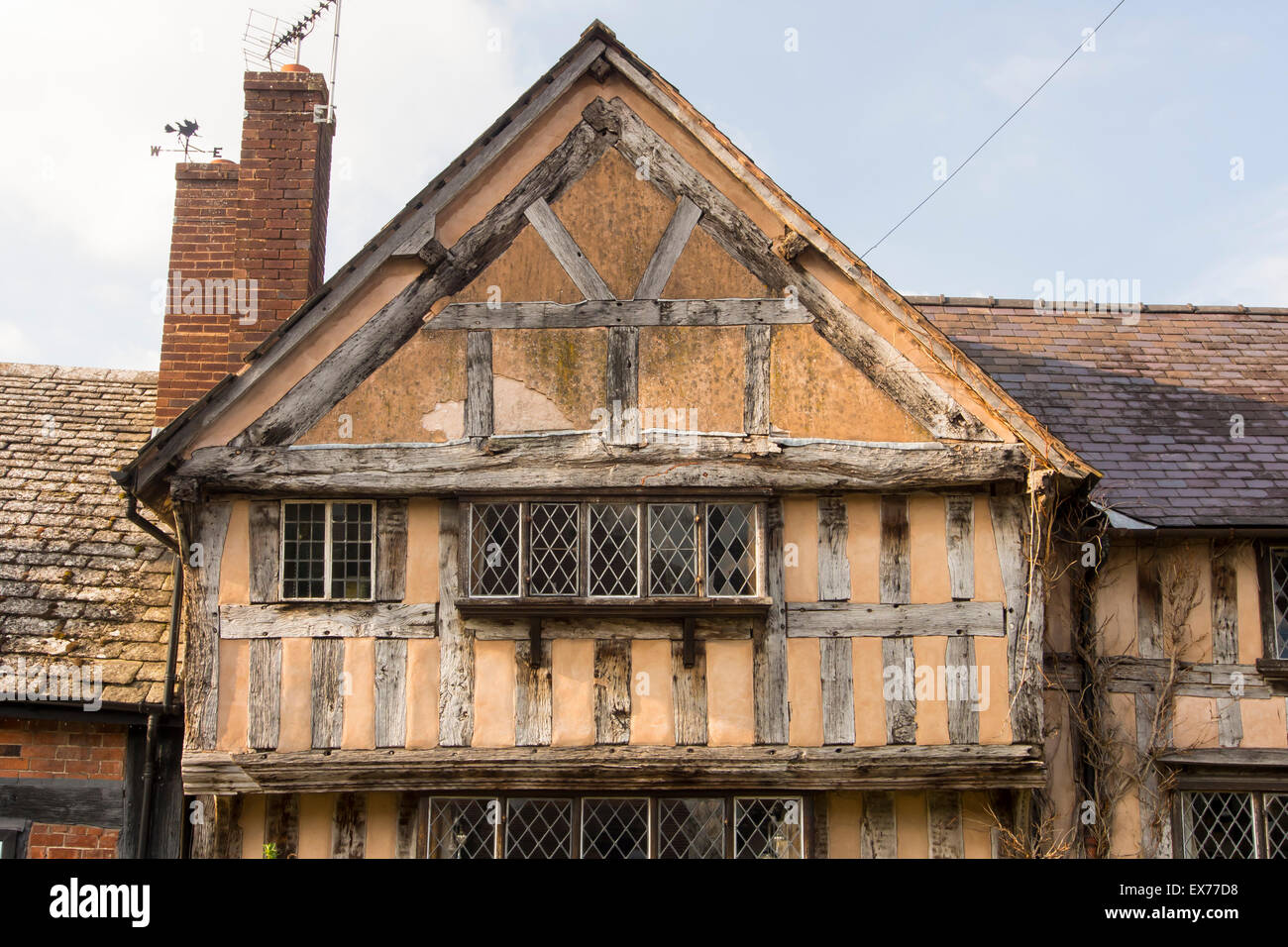 Ancient Medieval Tudor Timber Framed Houses In Pembridge