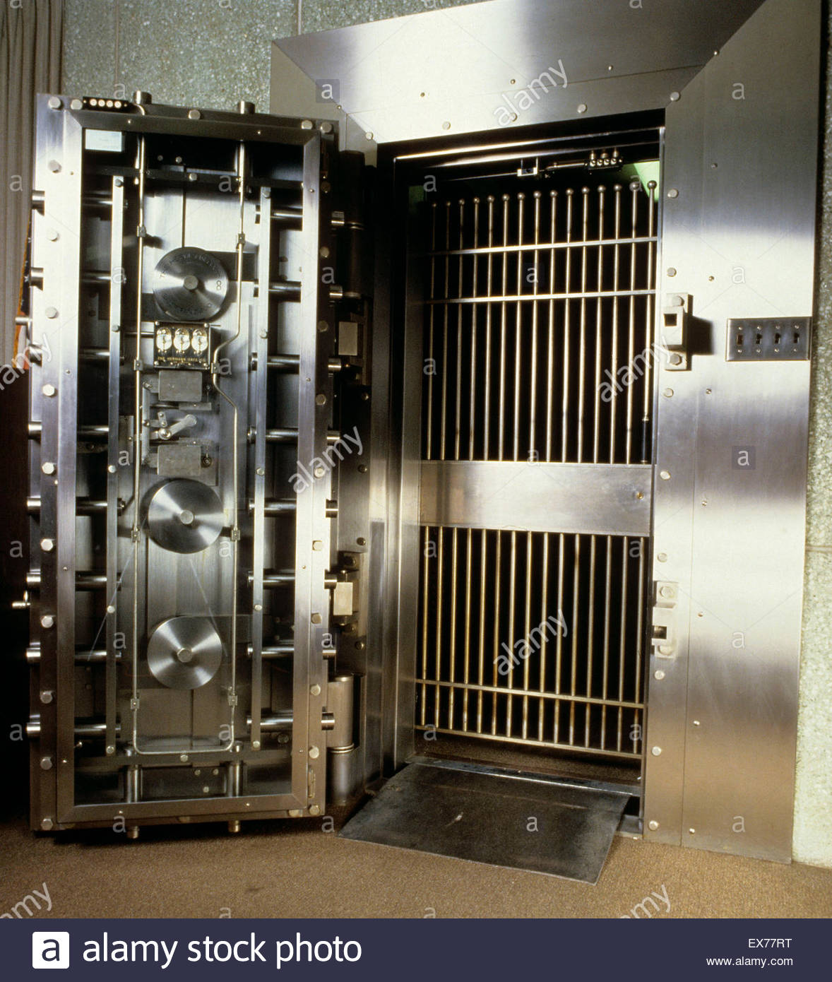 Bank vault door. - Stock Image