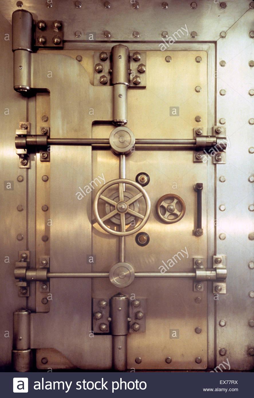 Bank vault door. - Stock Image