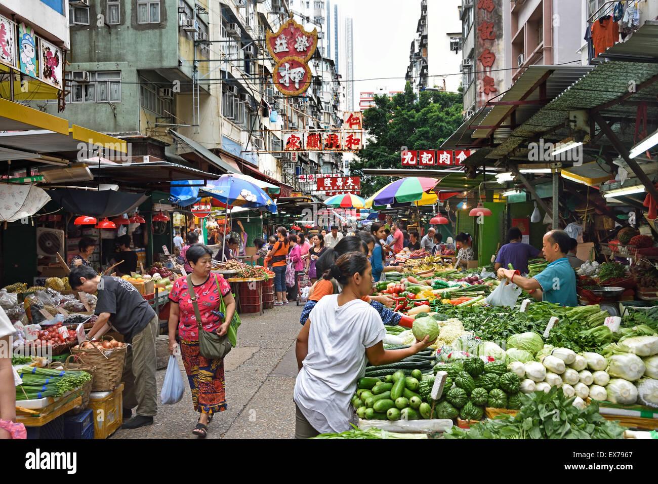 Temple Street Day And Night Food Market Flea Markets Kowloon Hong Kong China