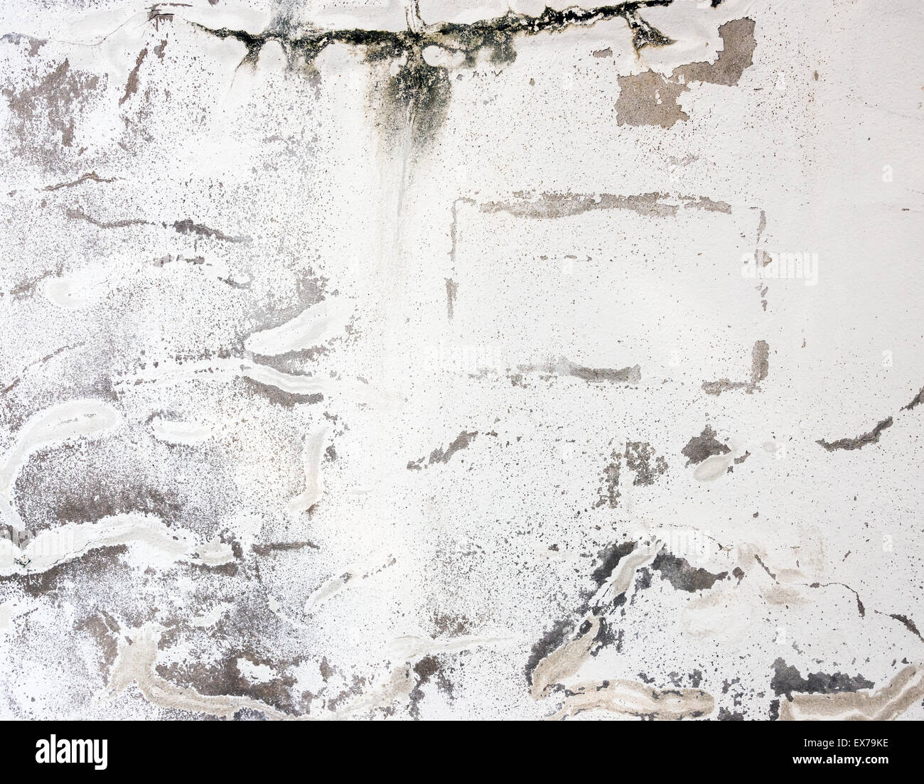 Old broken wall with many crack. - Stock Image