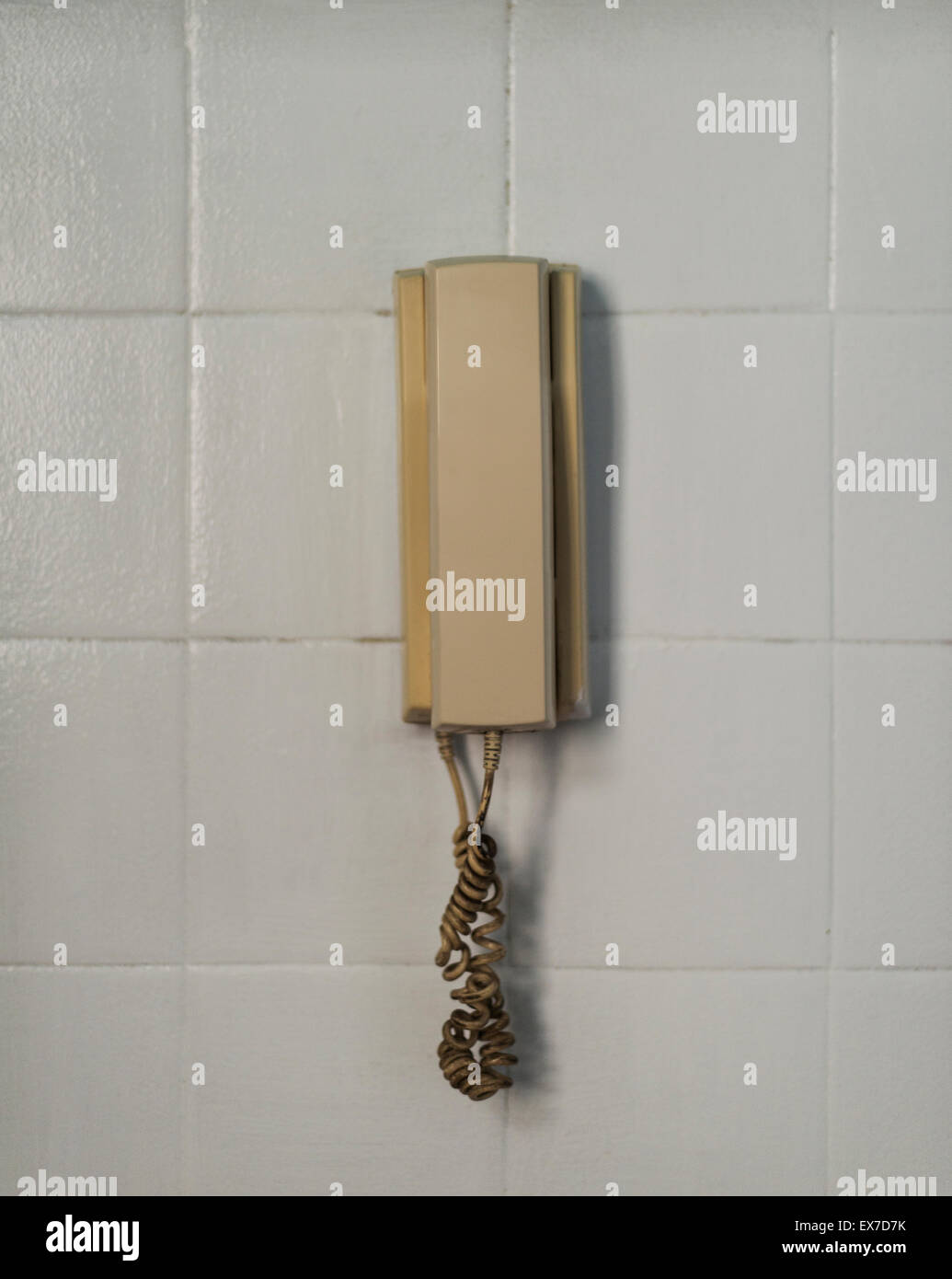 Phone on the Wall - Stock Image