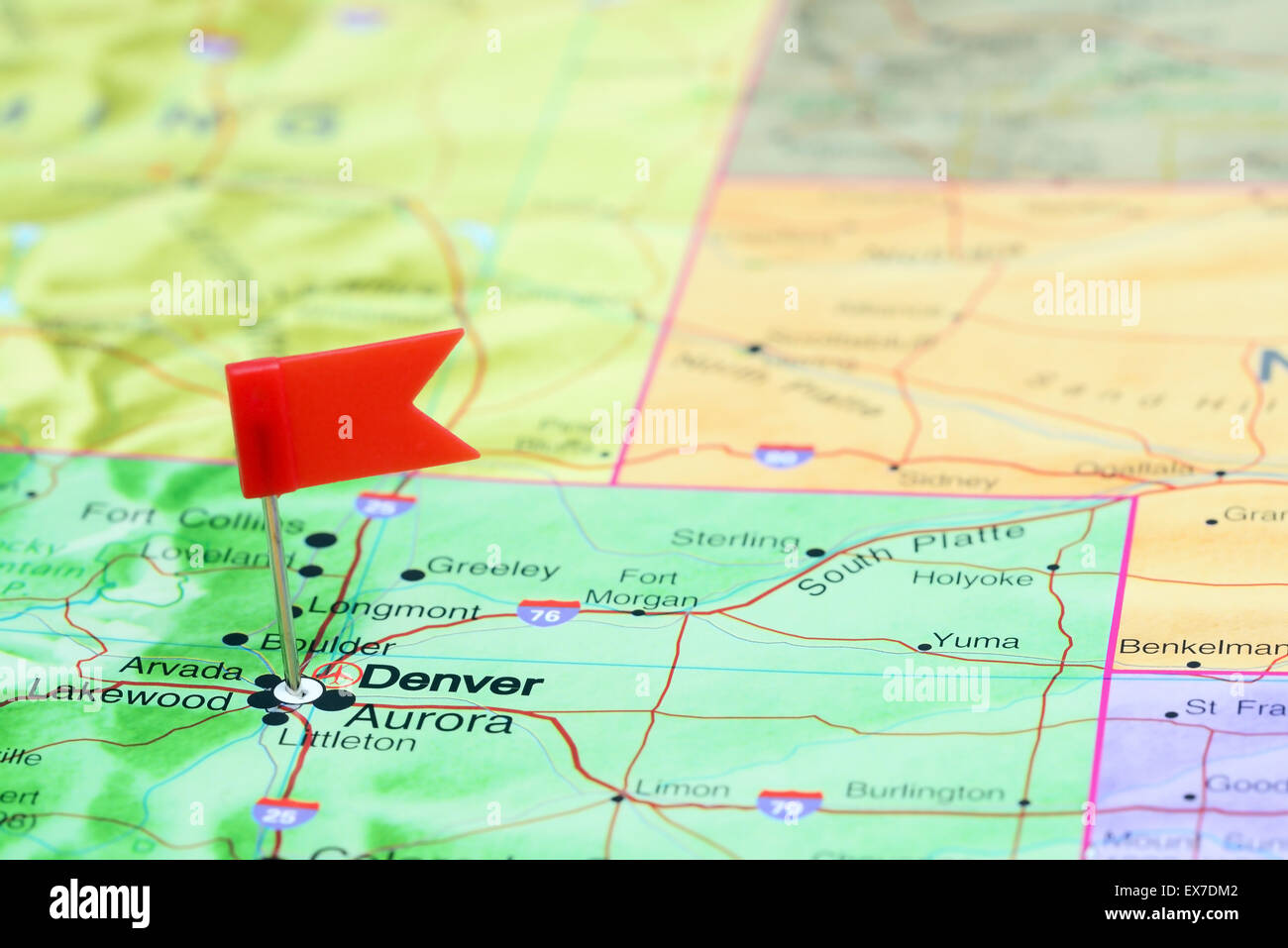 Denver pinned on a map of USA Stock Photo: 84986946 - Alamy on fishing map of usa, co state map in usa, map of new jersey usa, denver col usa map, denver co us, map of florida usa, map of new mexico usa, colorado map usa, denver colorado map, detroit map usa,