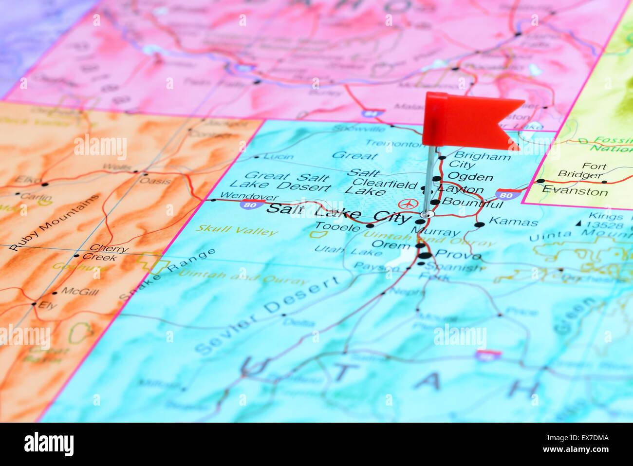 Salt Lake City pinned on a map of USA Stock Photo: 84986954 ... Salt Lake City Usa Map on usa map san francisco, usa map buffalo, usa map united states, usa map orange county, usa map fort lauderdale, usa map grand rapids, usa map las vegas, usa map santa fe, usa map chattanooga, usa map tampa, usa map moab, usa map with states, usa map great salt lake, usa map harrisburg, usa map cincinnati, usa map savannah, usa map wichita, usa map charleston, usa map fort worth, usa map guam,