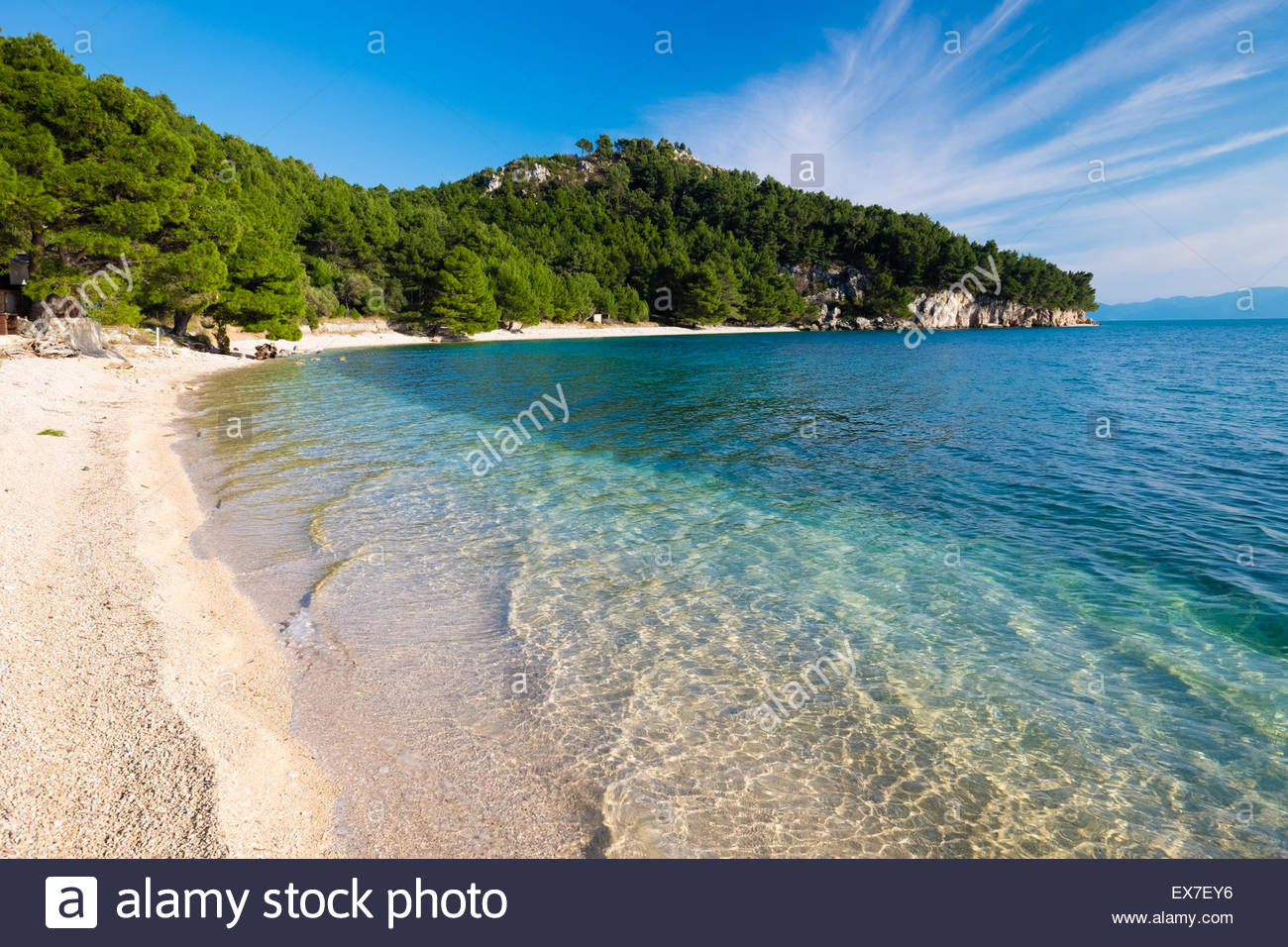 Croatia, Central Dalmatia, Baska Voda - Stock Image