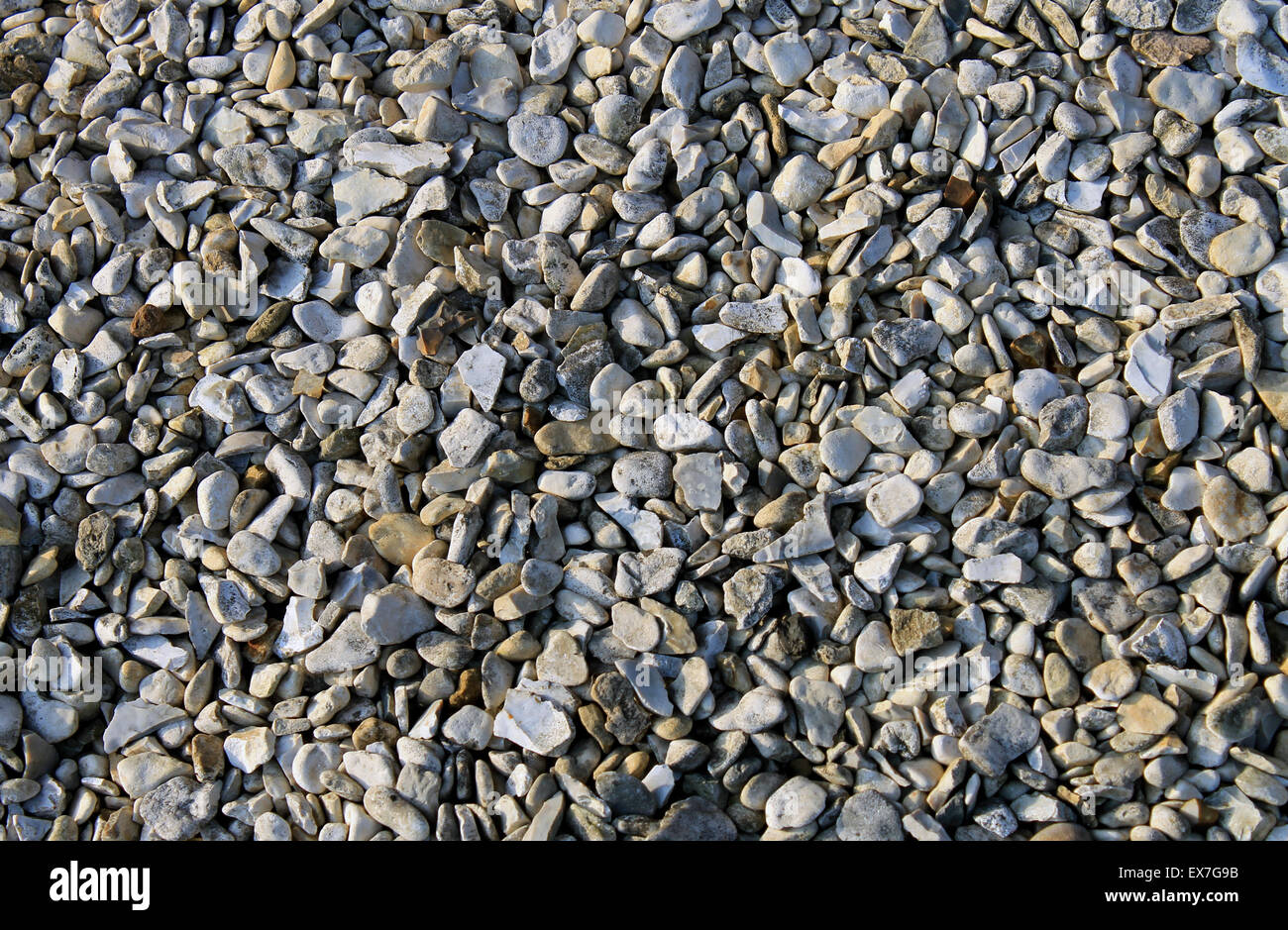 Abstract pebble or shingle background. - Stock Image