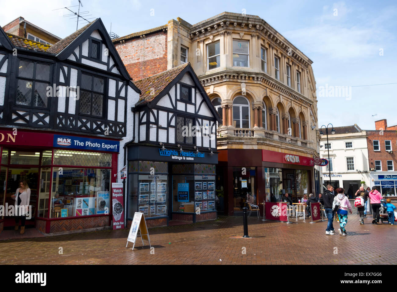 Fore Street, Trowbridge, Wiltshire, United Kingdom. - Stock Image