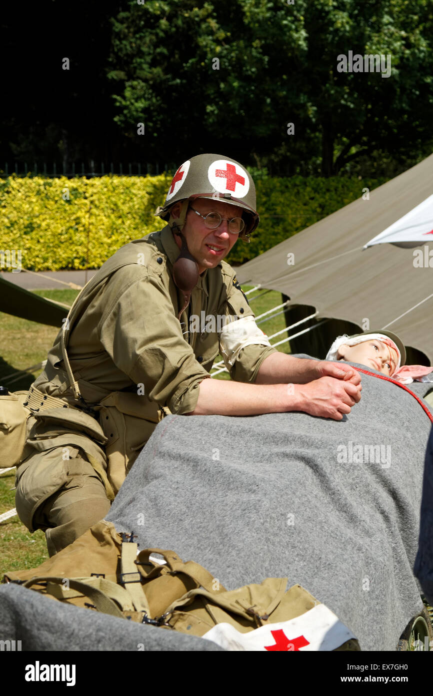 The Wiltshire World War 2 Allies Living History Group, Wiltshire Armed Forces and Veterans Weekend, Trowbridge, - Stock Image