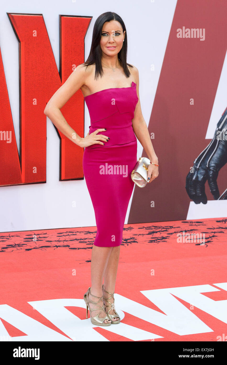 Linzi Stoppard arrives on the red carpet for the The European Premiere of Ant-Man  on 08/07/2015 at ODEON Leicester - Stock Image