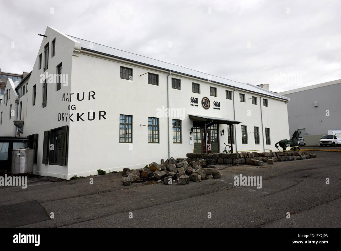 the saga museum reykjavik iceland - Stock Image