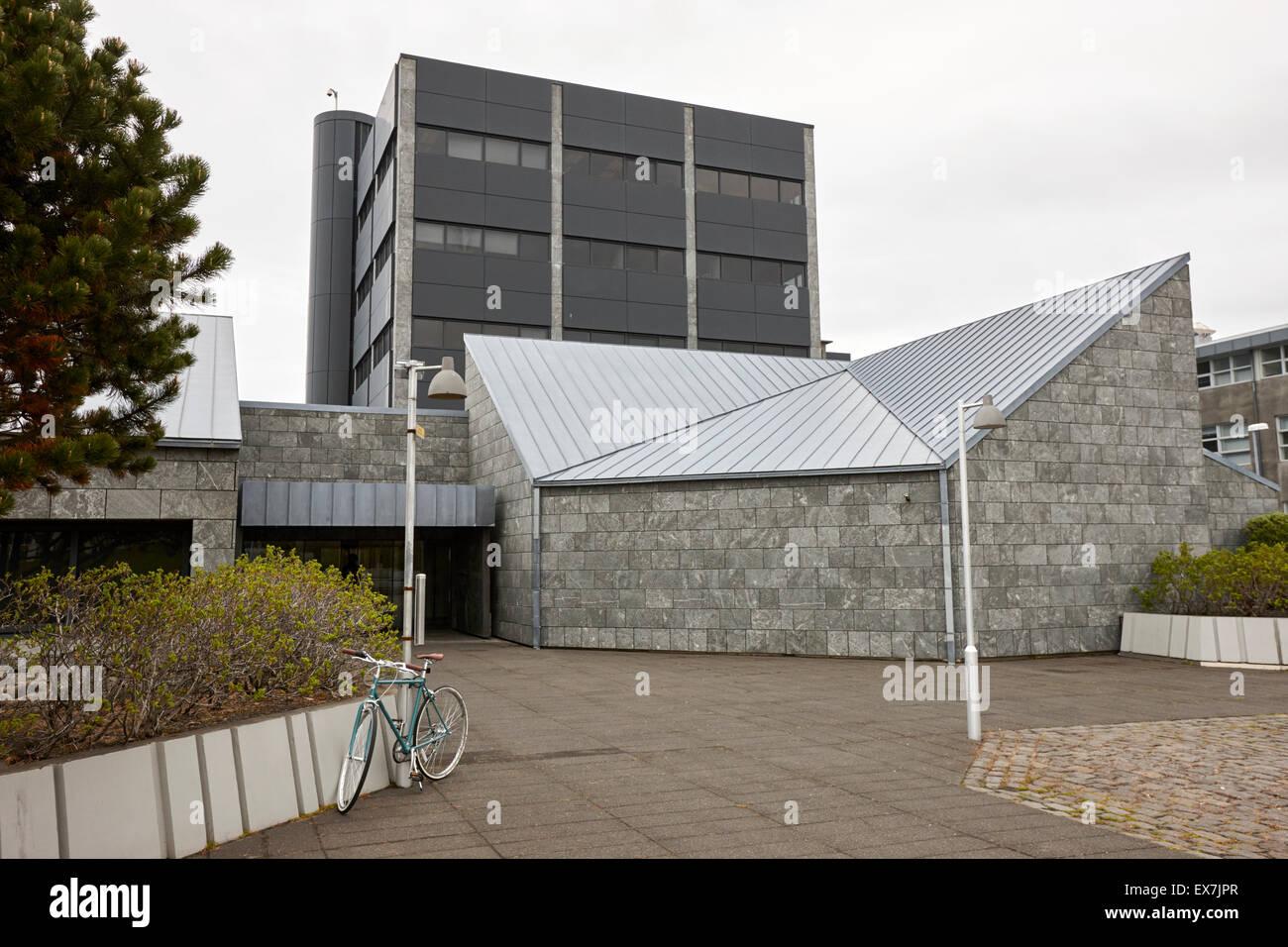 national bank headquarters and data centre reykjavik iceland Stock Photo