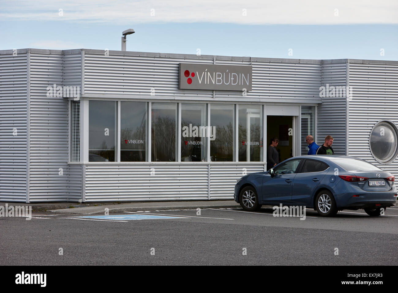 vinbudin licensed official government liquor alcohol stores in iceland - Stock Image