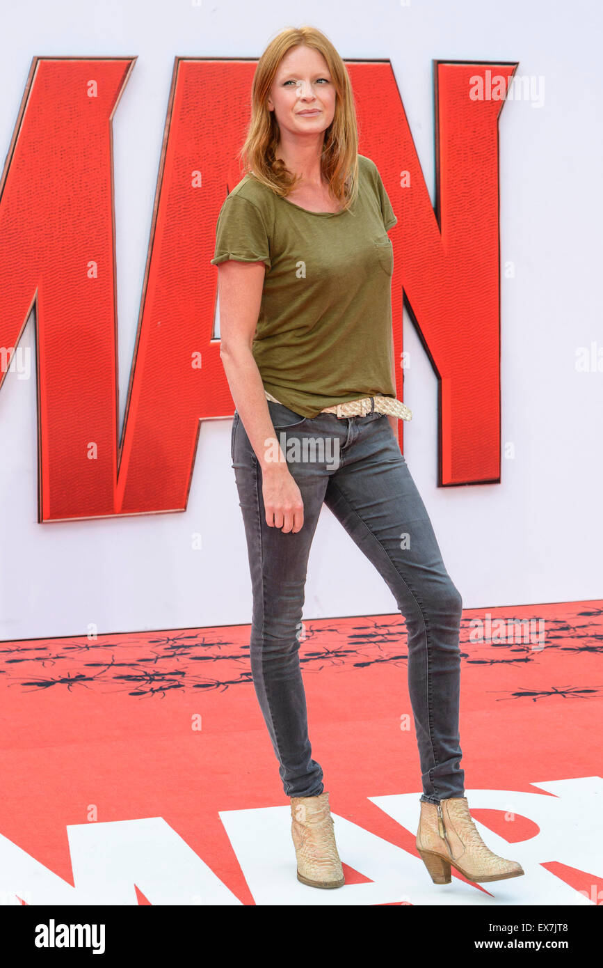 Olivia inge arrives on the red carpet for the The European Premiere of Ant-Man  on 08/07/2015 at ODEON Leicester - Stock Image