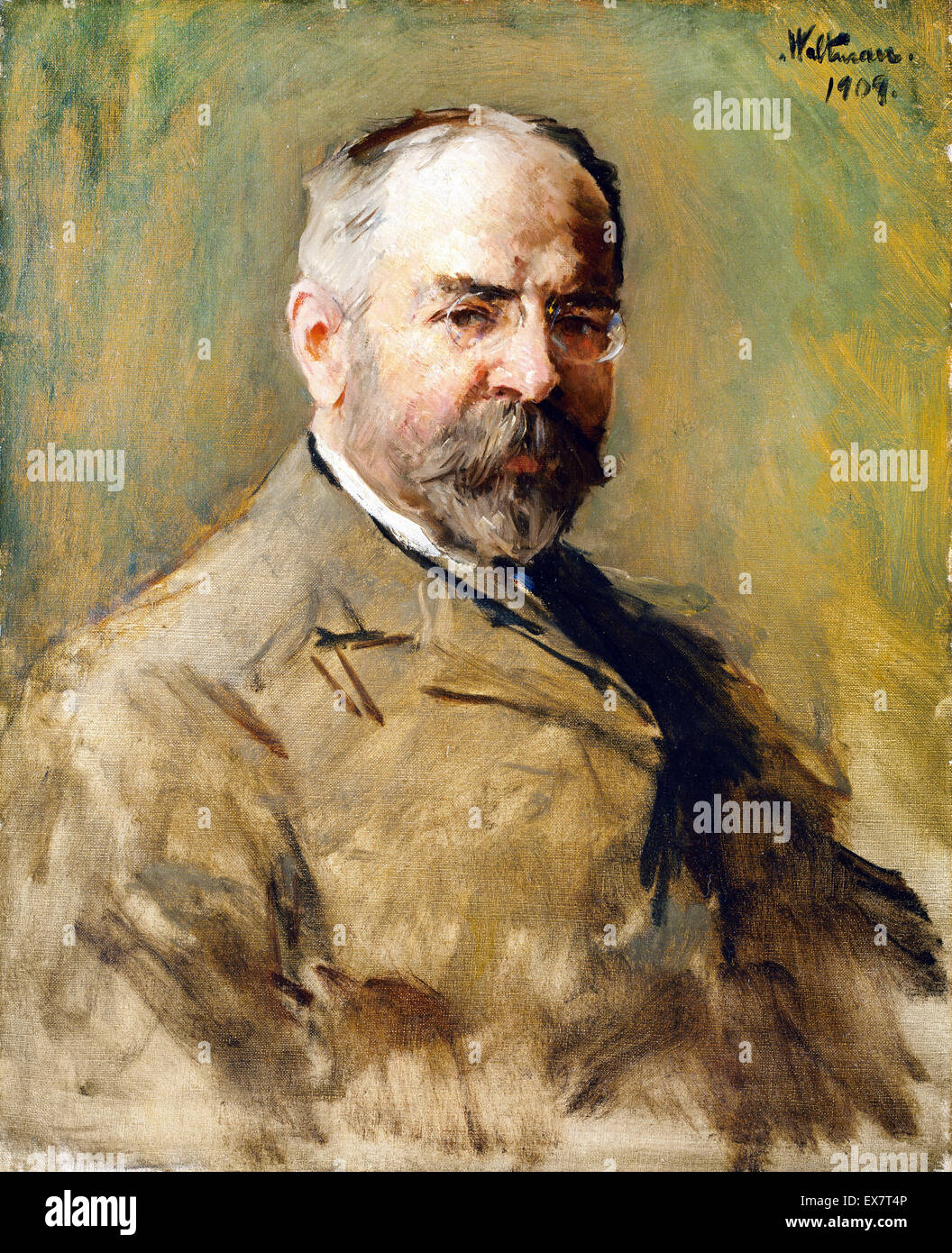 Harry Franklin Waltman, John Philip Sousa 1909 Oil on canvas. National Portrait Gallery, Washington, D.C., USA. - Stock Image