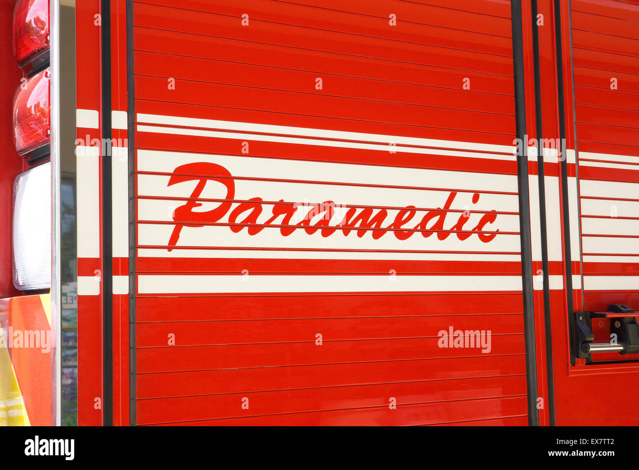 Paramedic ambulance - Stock Image