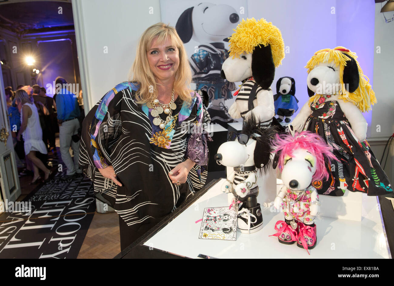 Berlin, Germany. 08th July, 2015. Designer Nanna Kuckuck poses at the exhibition 'Snoopy and Belle in Fashion' - Stock Image